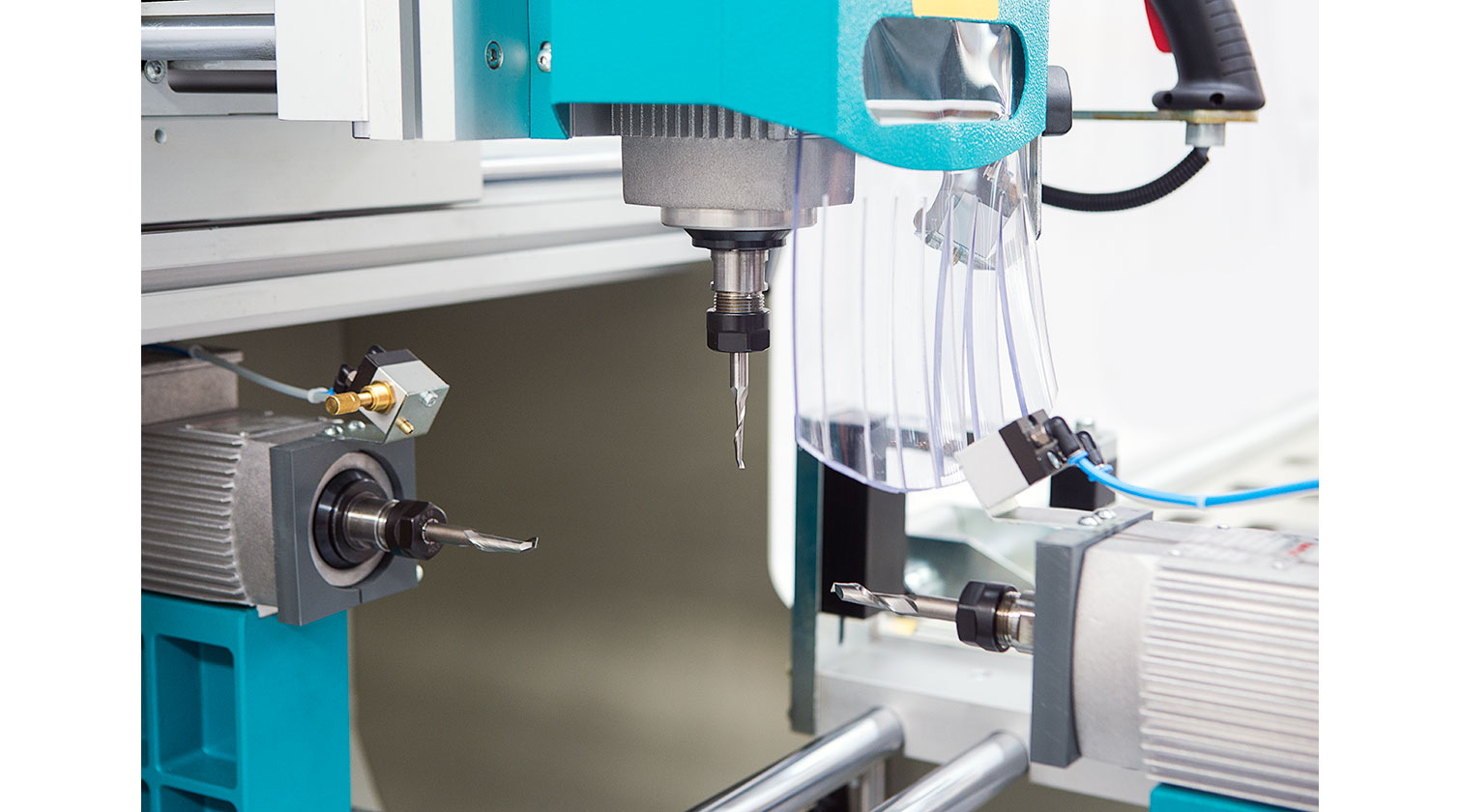 INT aluminum copy router Yilmaz CRM 250 S three spindles