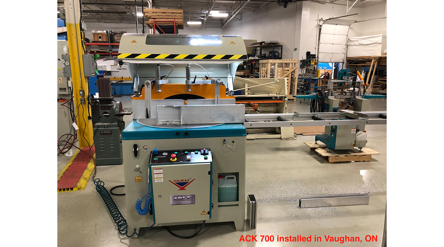 INT aluminum up cut saw Yilmaz ACK 700 installed in Vaughan