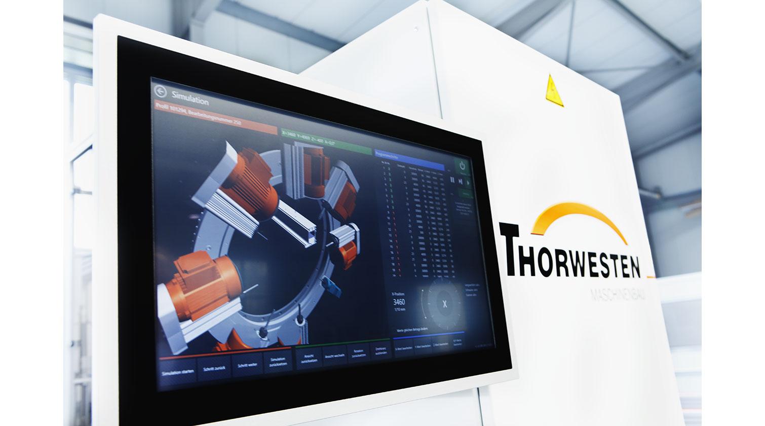 INT PVC window CNC Thorwesten PBZ operator interface