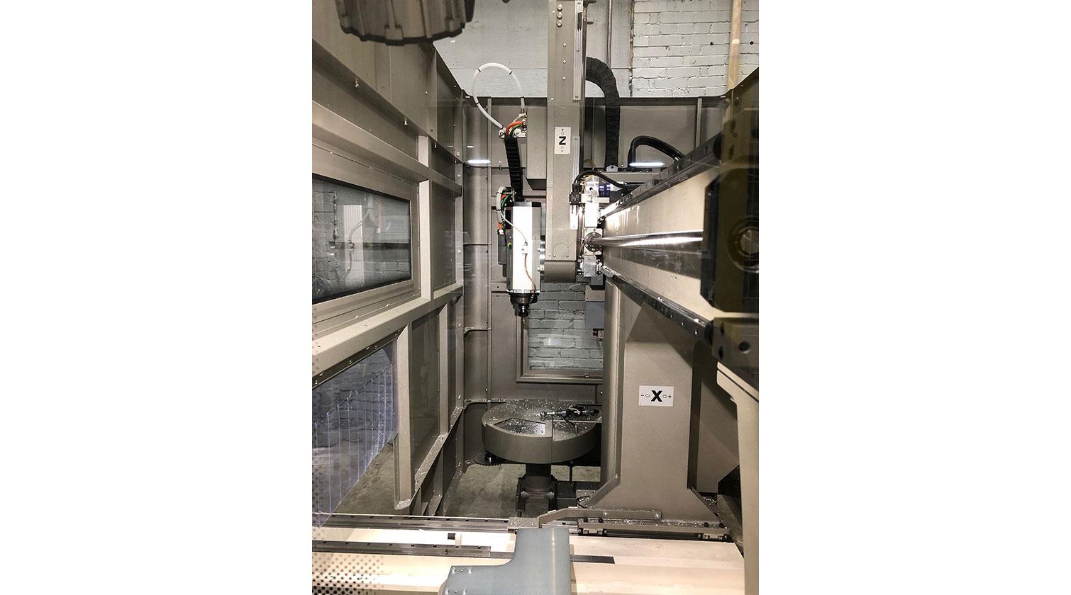INT aluminum CNC Mecal Ariel 4 axes spindle 1