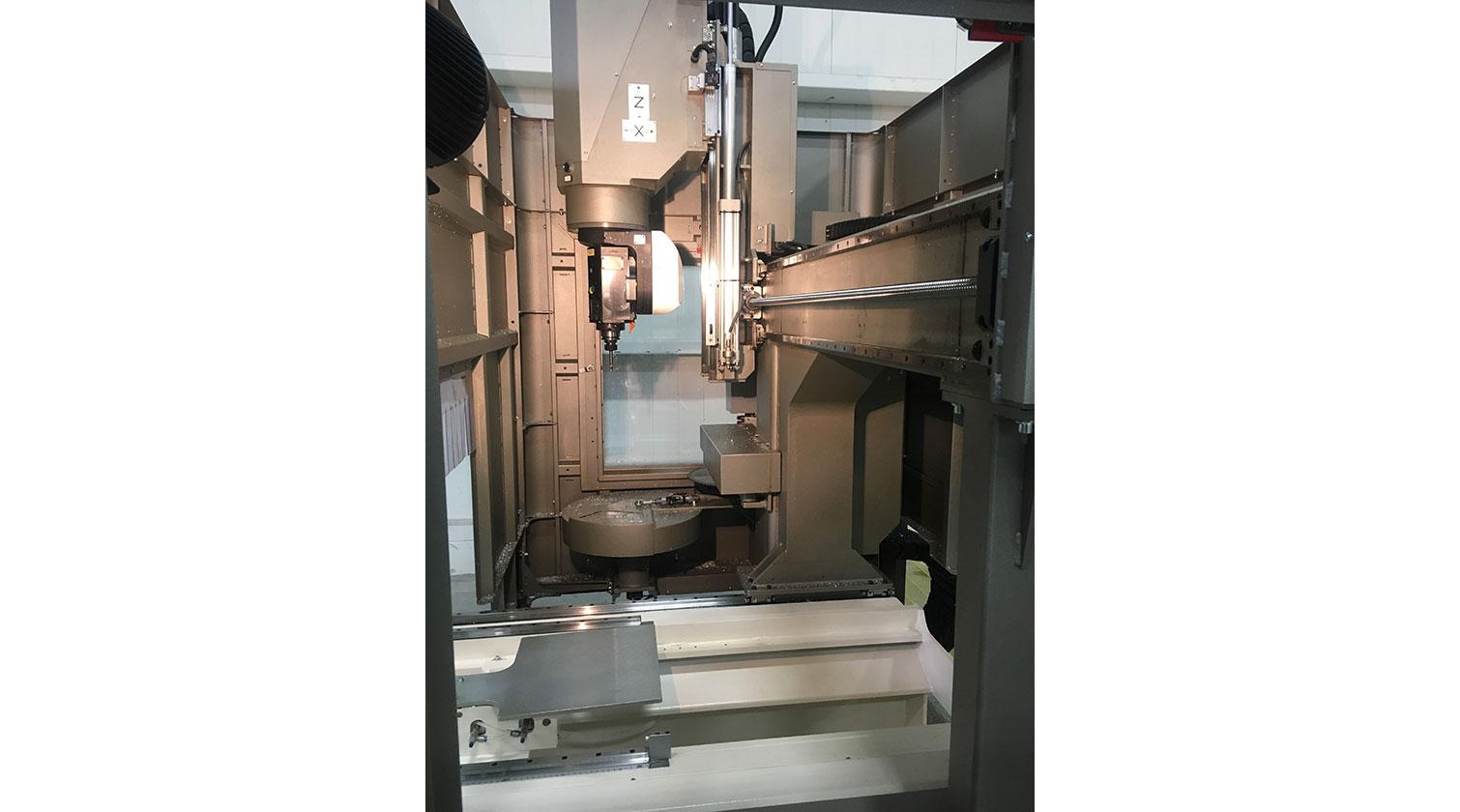 INT aluminum CNC Mecal Ariel 5 axes spindle 1