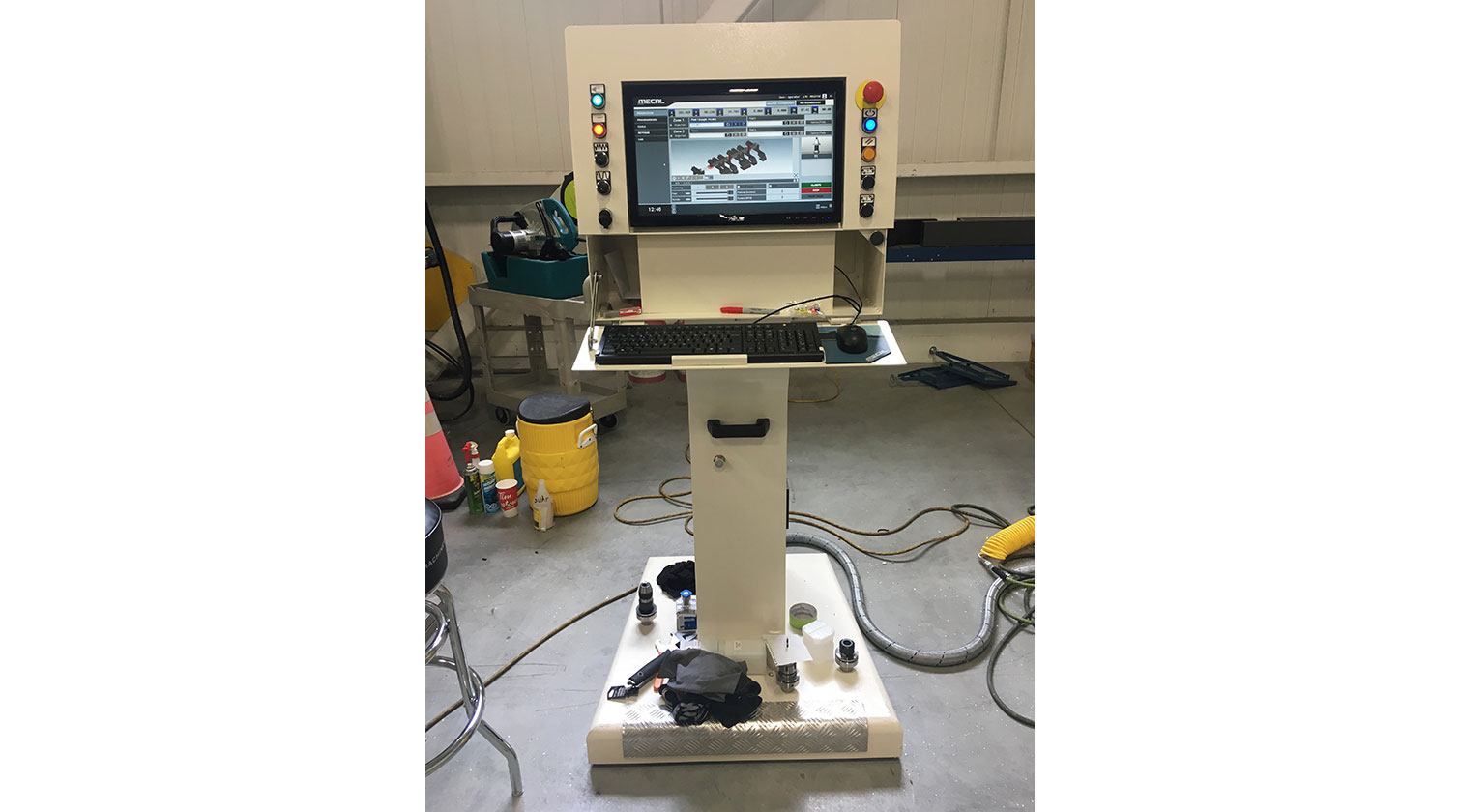 INT aluminum CNC Mecal Ariel operator interface 1