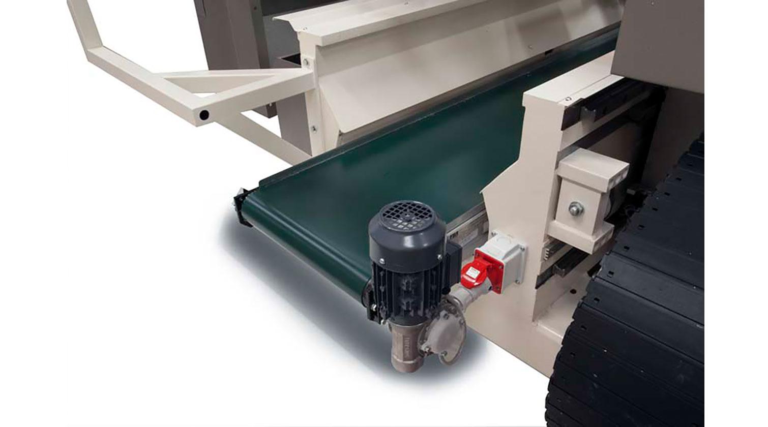 INT aluminum CNC Mecal Geos 5 axes belt to unload off cuts 1