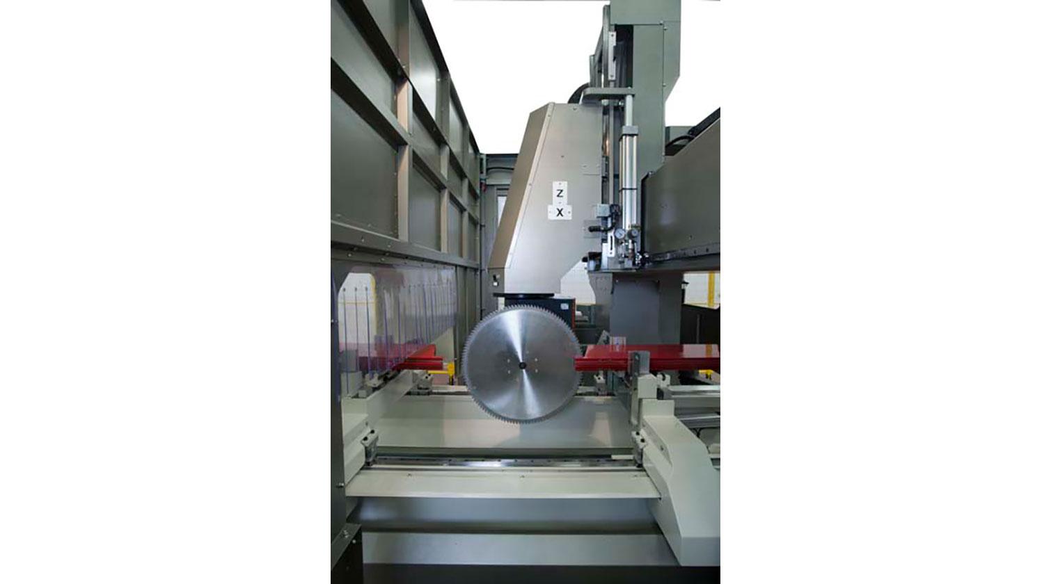 INT aluminum CNC Mecal Geos 5 axes blade cutting curtainwalls d 1