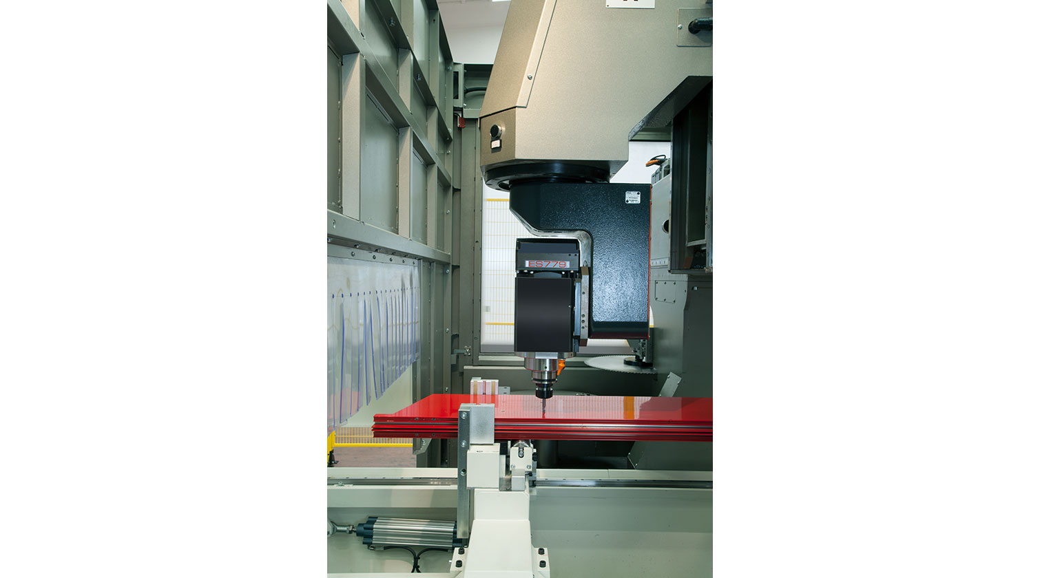 INT aluminum CNC Mecal Geos 5 axes spindle drilling 1