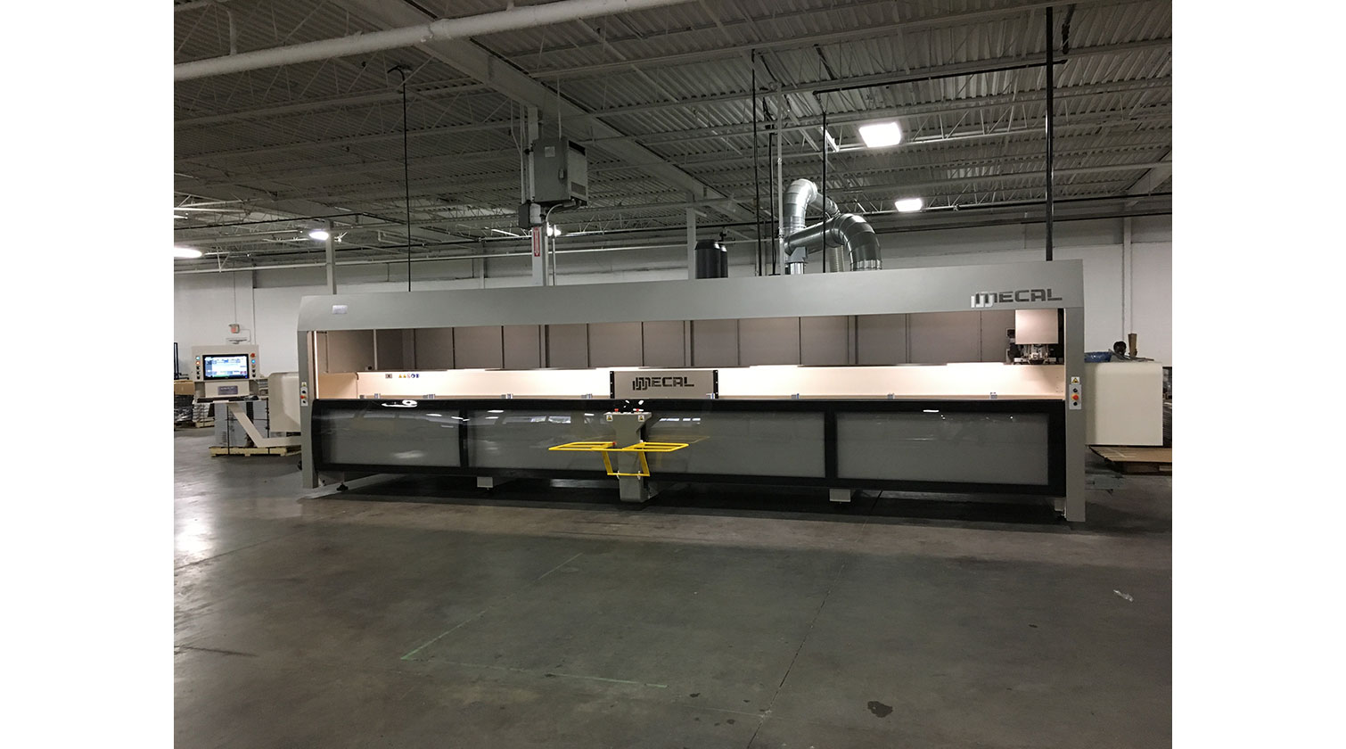 INT aluminum CNC Mecal Gianos installed in Brampton ON 2