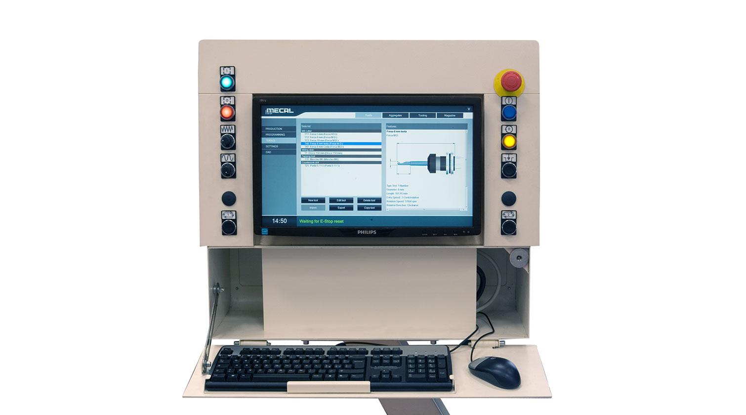 INT aluminum CNC Mecal Gianos operator interface 1