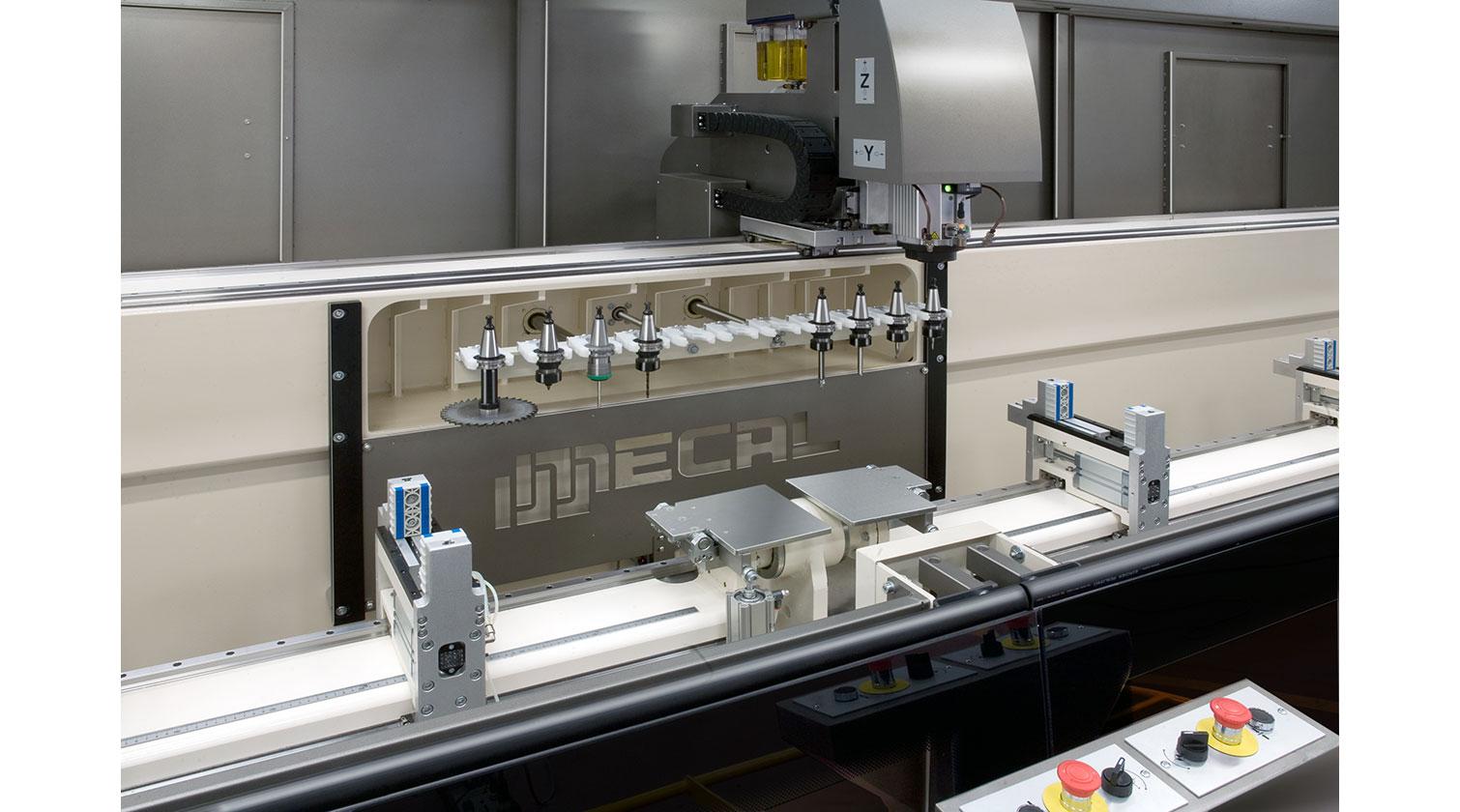 INT aluminum CNC Mecal Gianos tool magazine 1