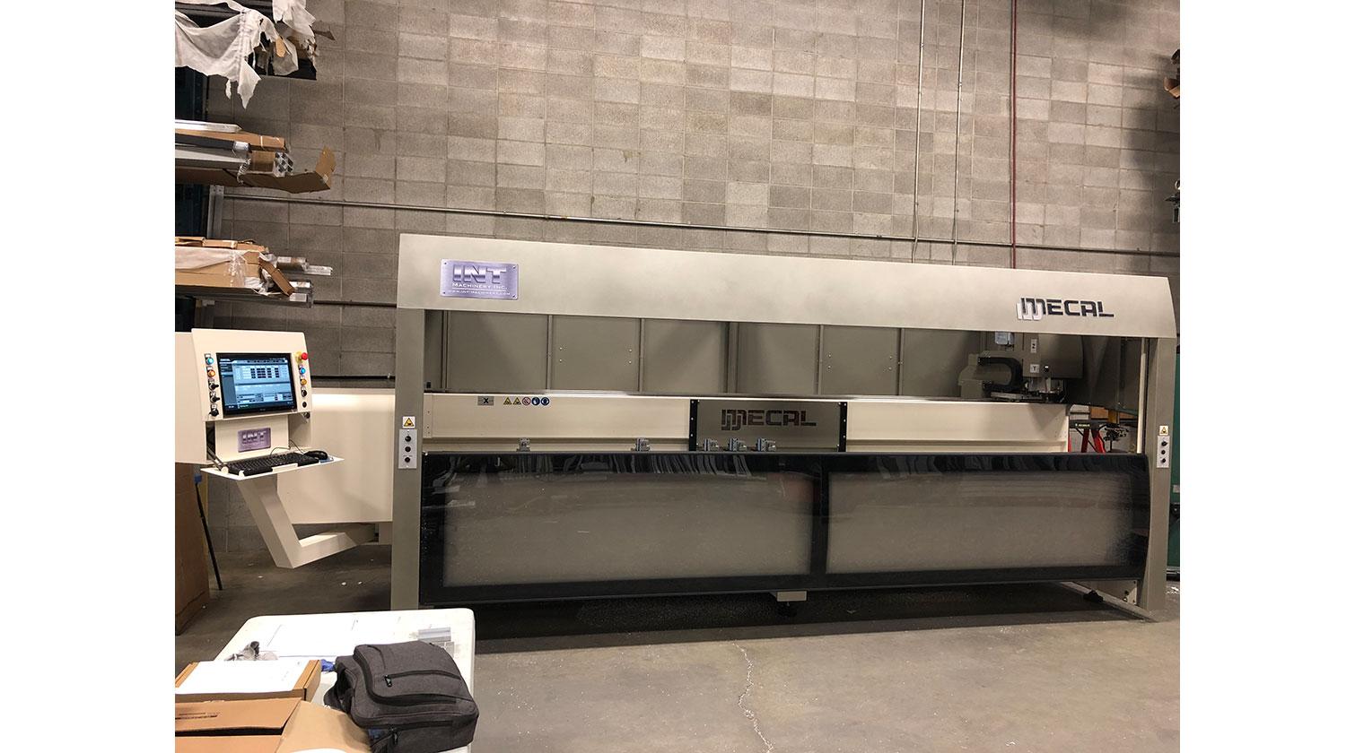 INT aluminum CNC Mecal Kosmos installed in Calgary AB 1