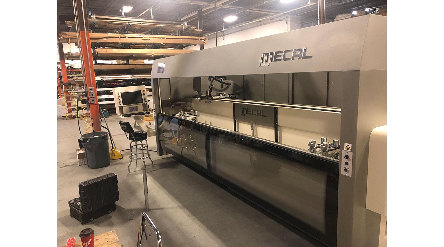 INT aluminum CNC Mecal Kosmos installed in Ottawa 1