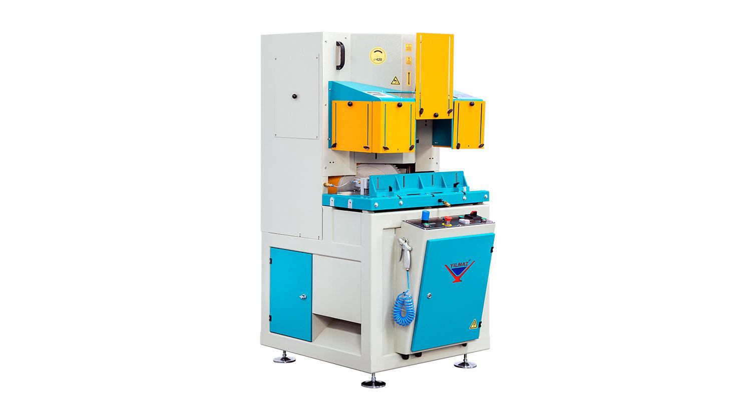 INT aluminum V cut vertical saw Yilmaz VK 420