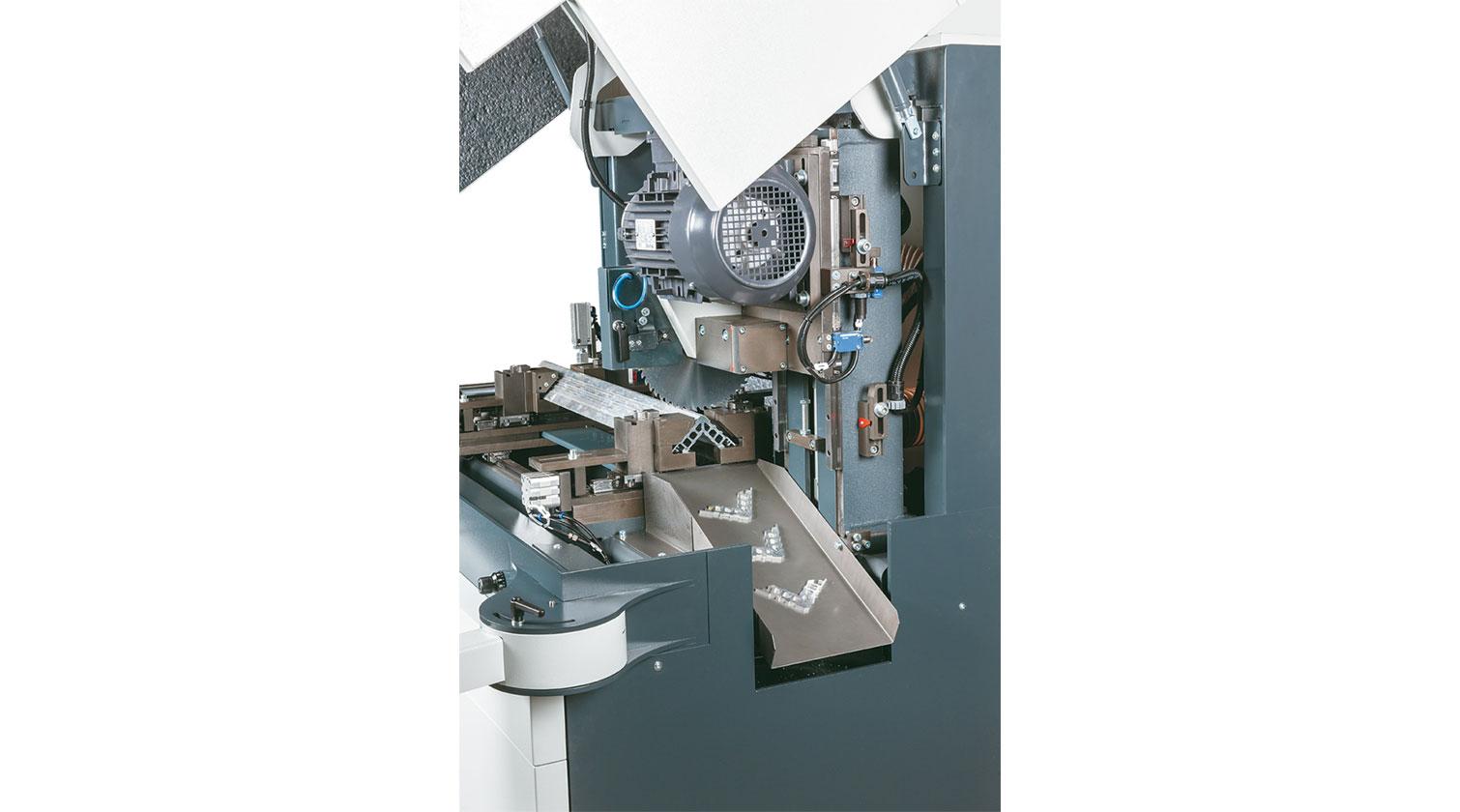 INT aluminum automatic saw Pressta Eisele Profilma 250 cutting