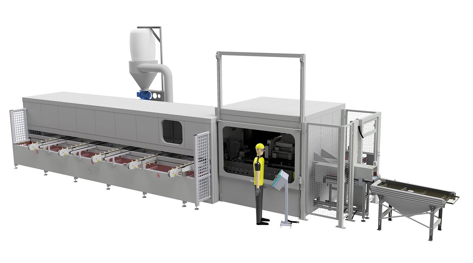 INT aluminum automatic saw Pressta Eisele Profilma 400 V a