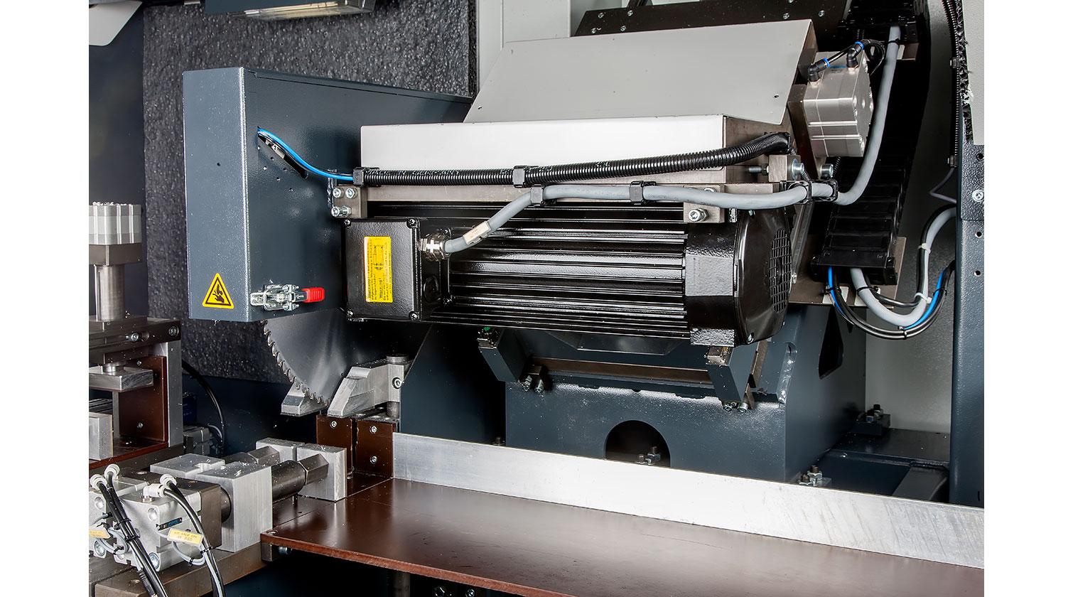 INT aluminum automatic saw Pressta Eisele Profilma 400 V blade motor