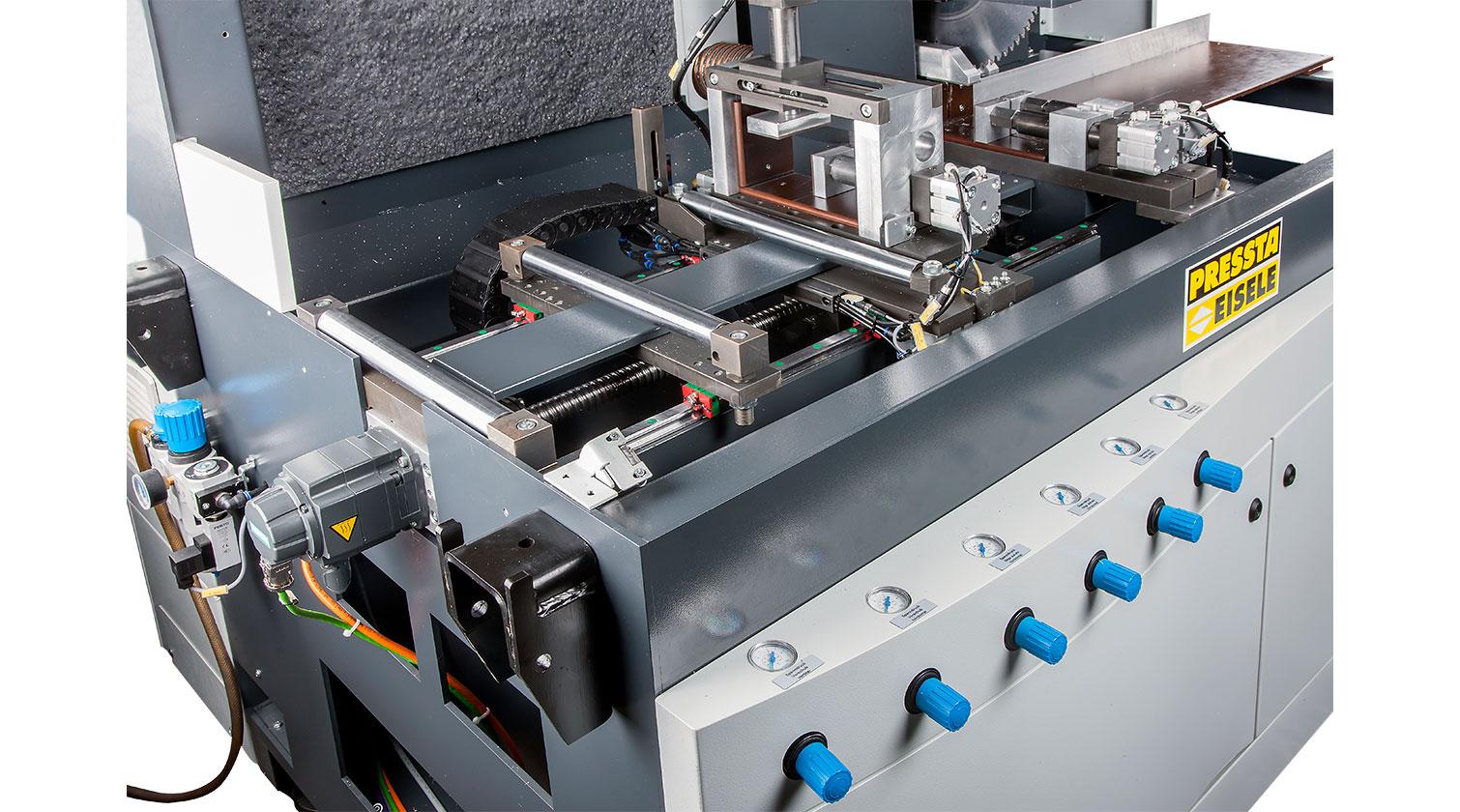 INT aluminum automatic saw Pressta Eisele Profilma 400 V feeding mechanism