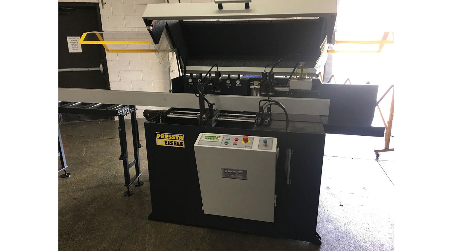 INT aluminum automatic saw Pressta Eisele Profilma 501 installation in Toronto 1