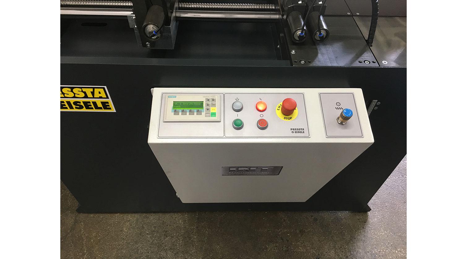 INT aluminum automatic saw Pressta Eisele Profilma 501 operator interface
