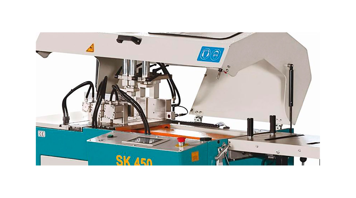 INT aluminum automatic saw Yilmaz SK 450 safety hood