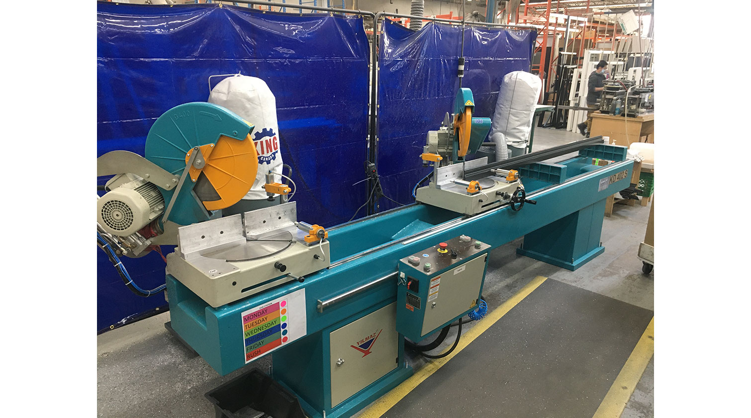 INT aluminum double mitre chop saw Yilmaz KD 402 S installed in Toronto 1