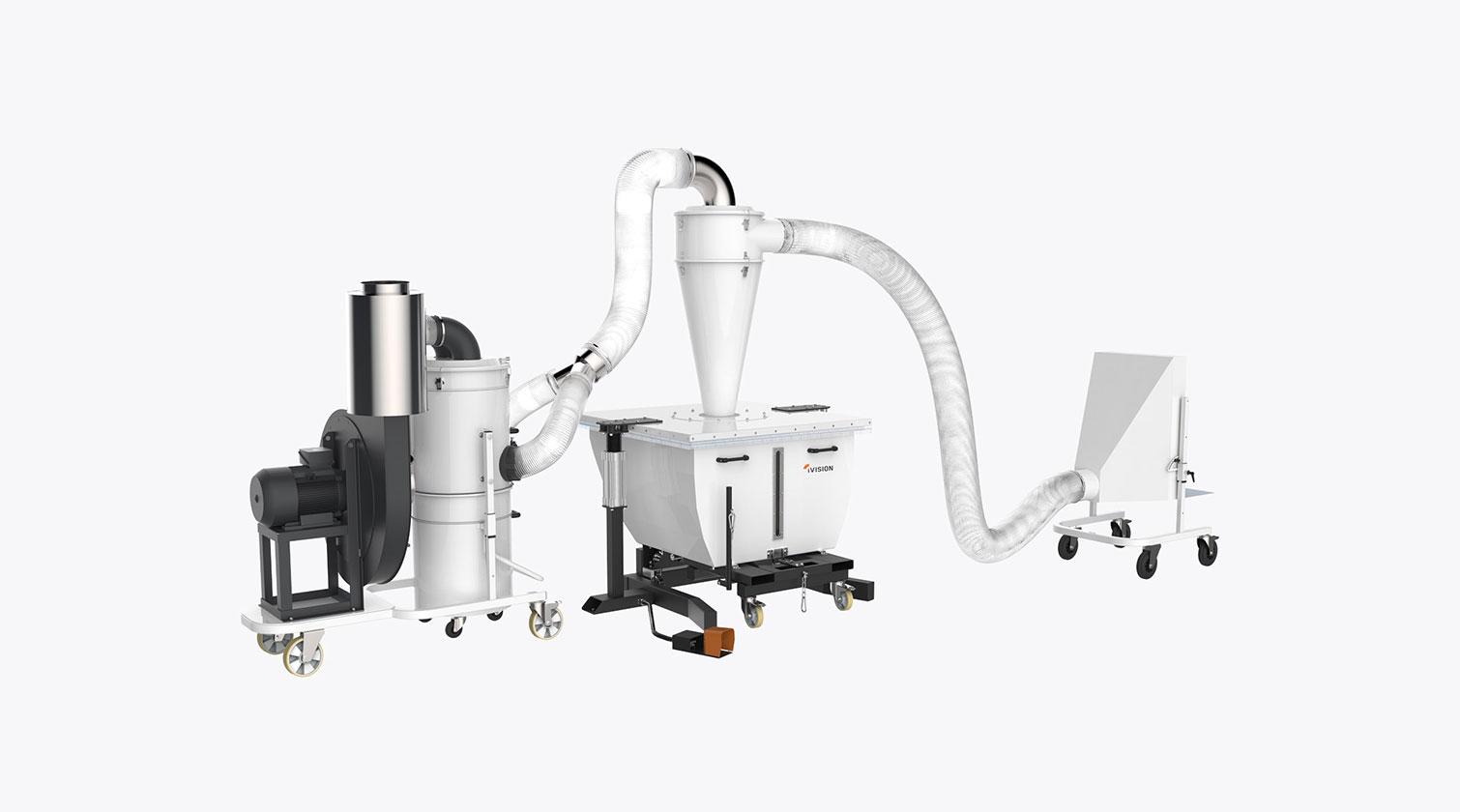 INT aluminum dust collector iVision iV turbine custom