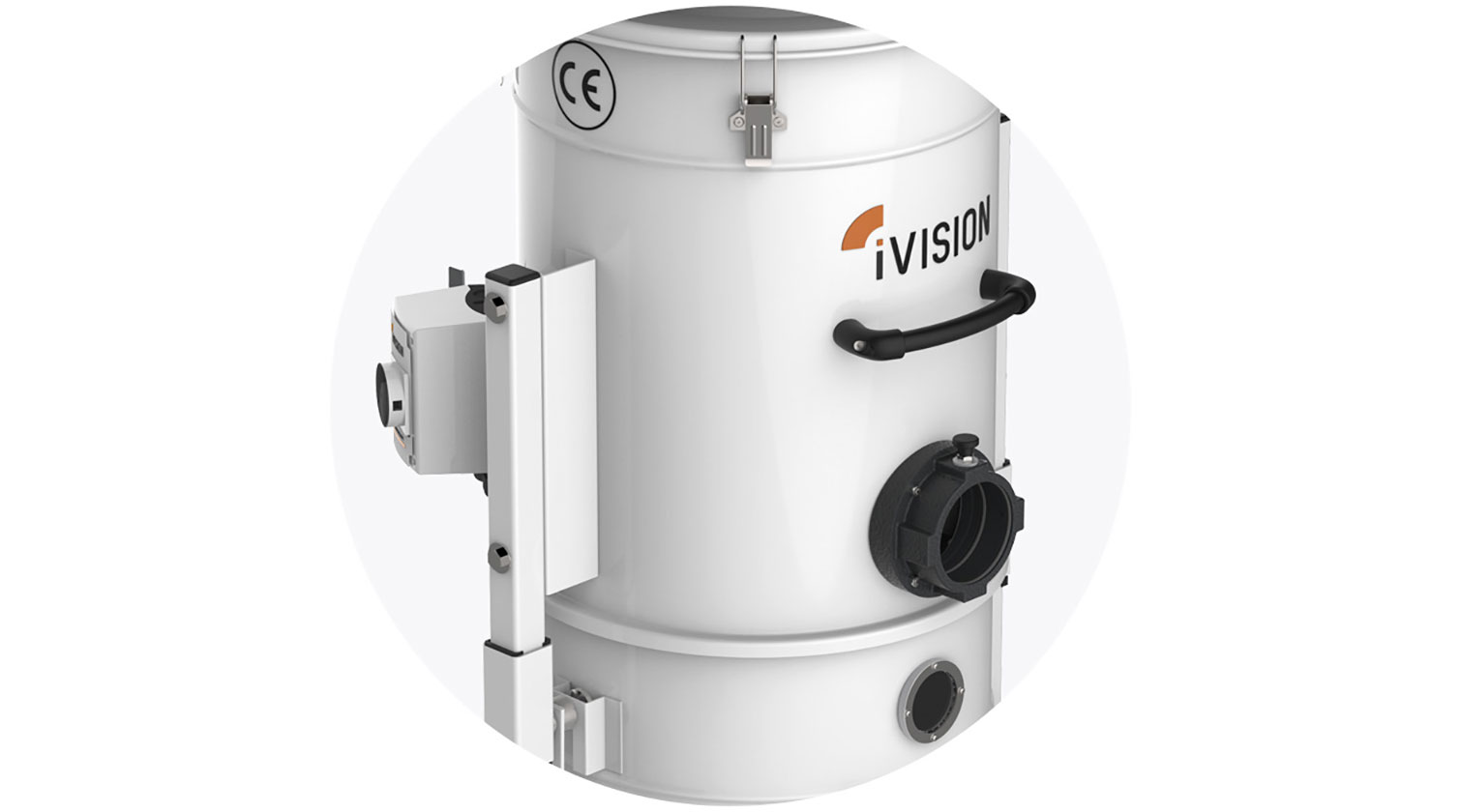 INT aluminum dust collector iVision iV2 inlet