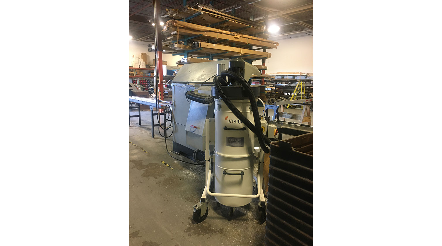 INT aluminum dust collector iVision iV2 installed in Ottawa