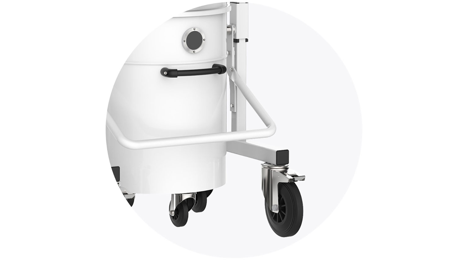 INT aluminum dust collector iVision iV2 release handle