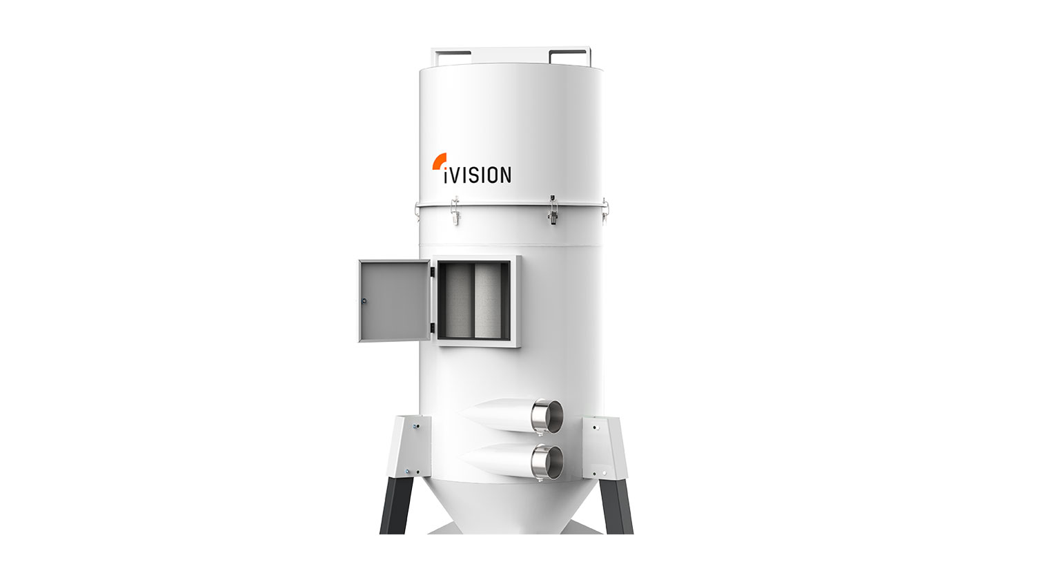 INT aluminum dust collector iVision iV5 filters inspection