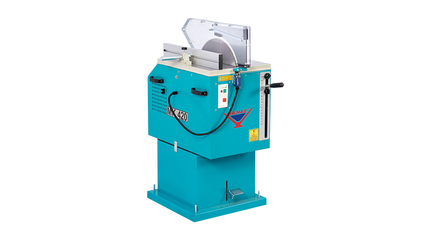 INT aluminum manual up cut saw Yilmaz MK 420 a