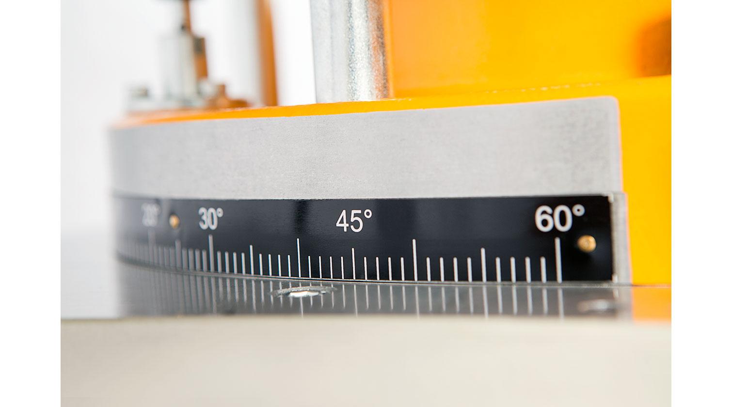 INT aluminum manual up cut saw Yilmaz MK 420 angle adjustment