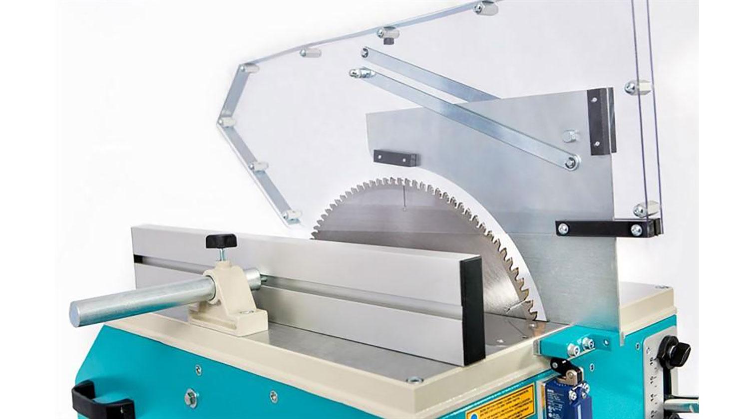 INT aluminum manual up cut saw Yilmaz MK 420 table saw configuration