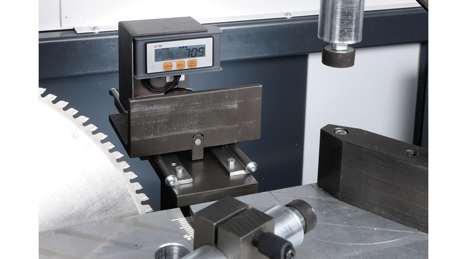 INT aluminum notching saw Pressta Eisele Prisma 500 angle digital reader