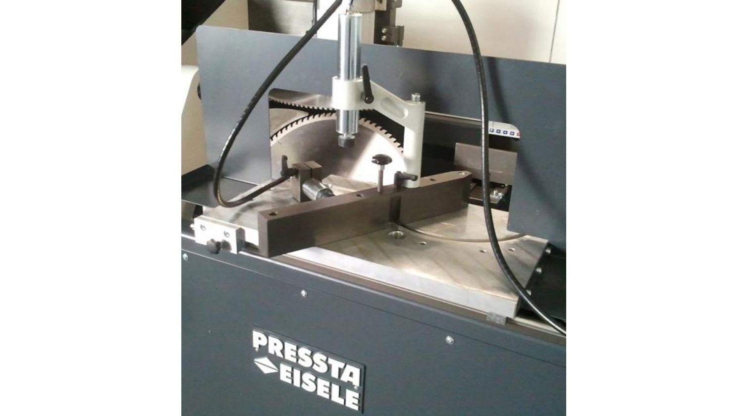 INT aluminum notching saw Pressta Eisele Prisma 500 profile side reference