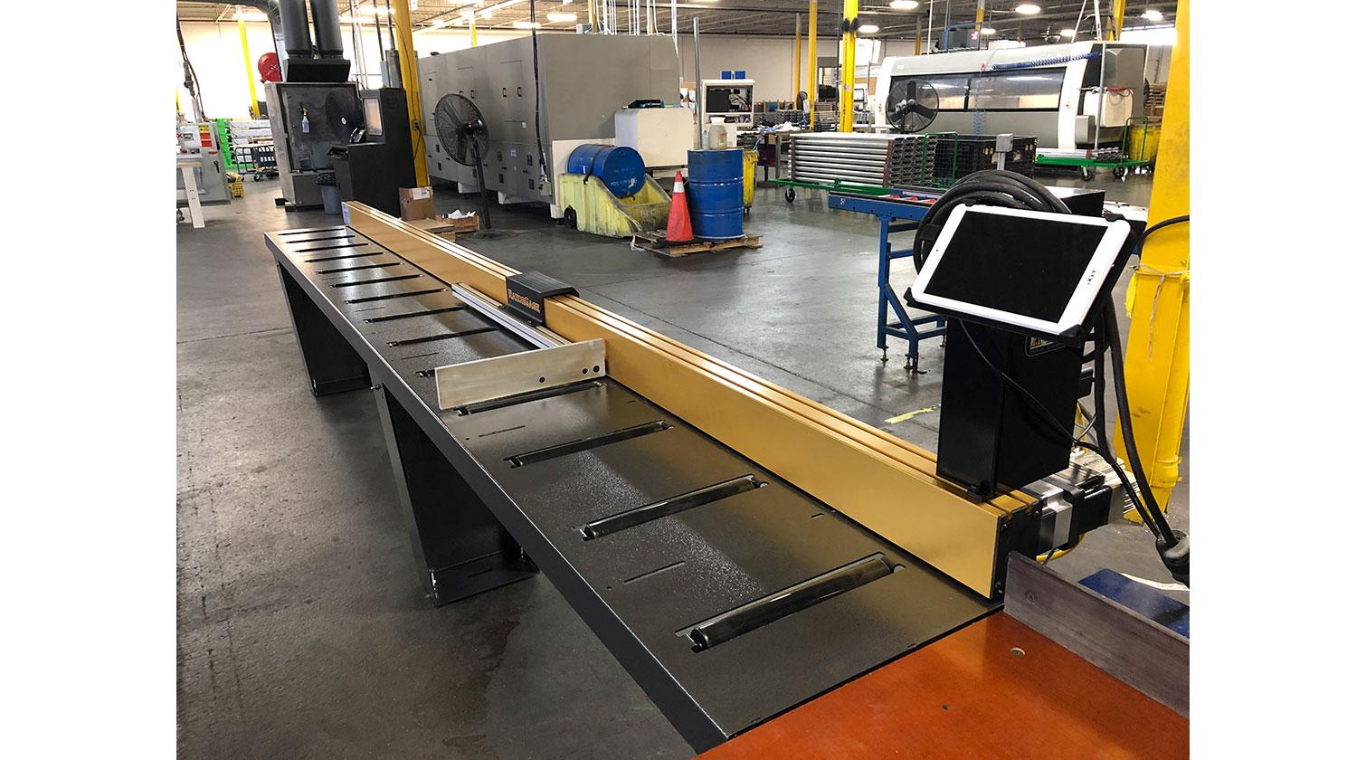 INT aluminum positioner RazorGage ST Android installed in Toronto