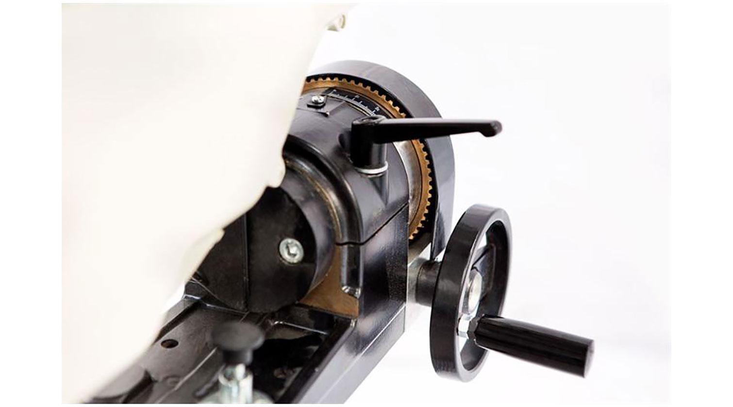 INT aluminum radial arm compound saw Yilmaz RYK 420 tilting mechanism