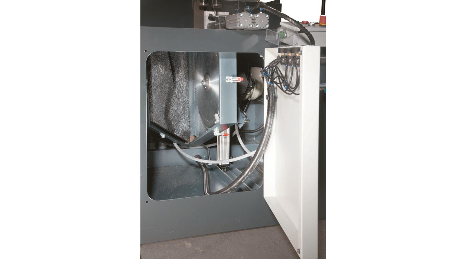 INT aluminum up cut saw Pressta Eisele GS 550 saw blade cabinet