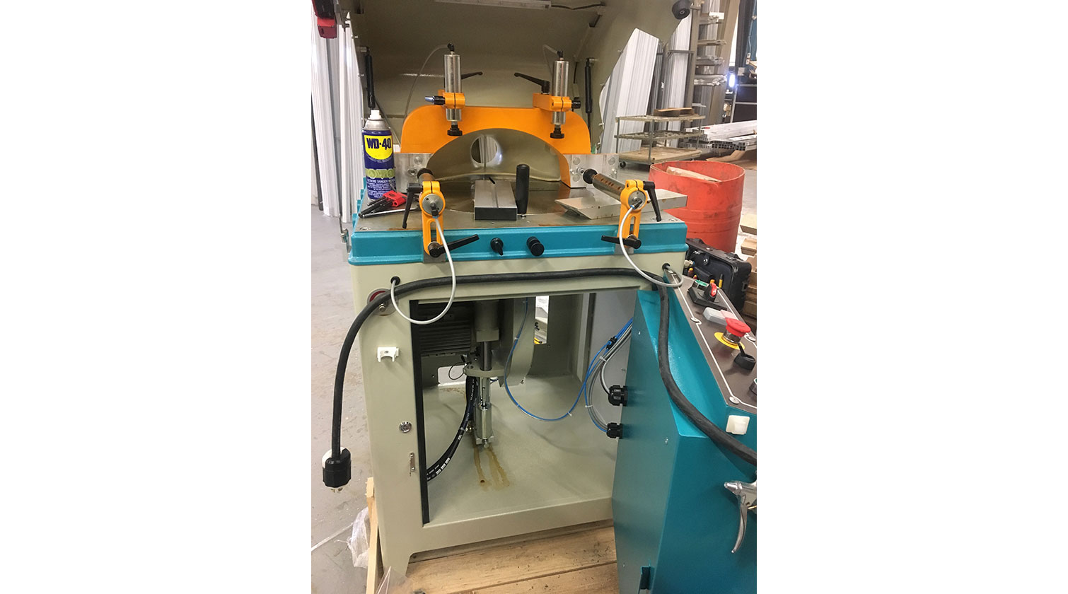 INT aluminum up cut saw Yilmaz ACK 420 blade compartment