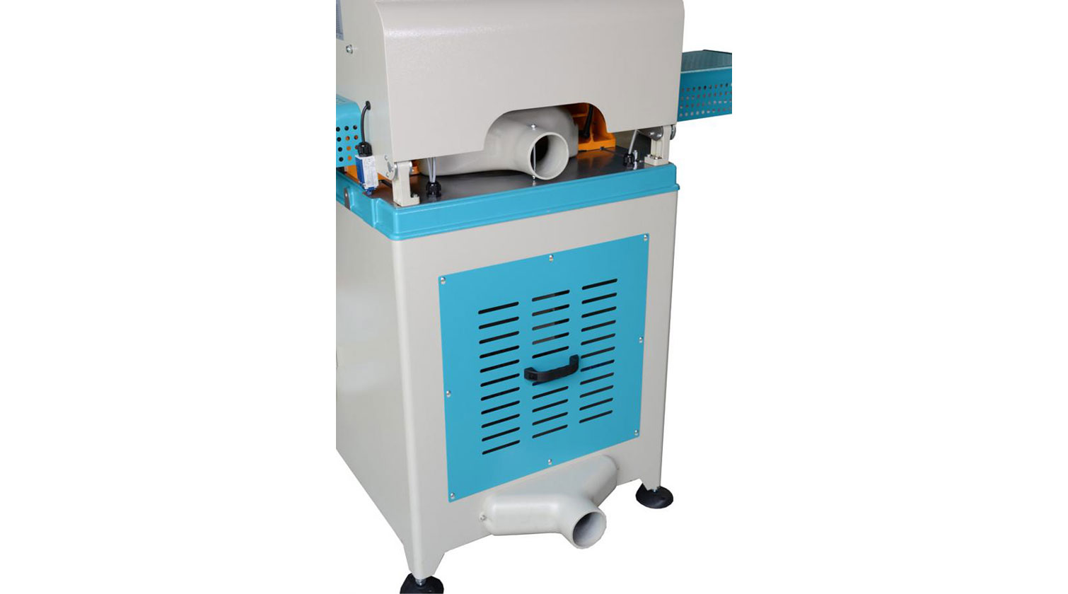 INT aluminum up cut saw Yilmaz ACK 420 dust and chips outlets