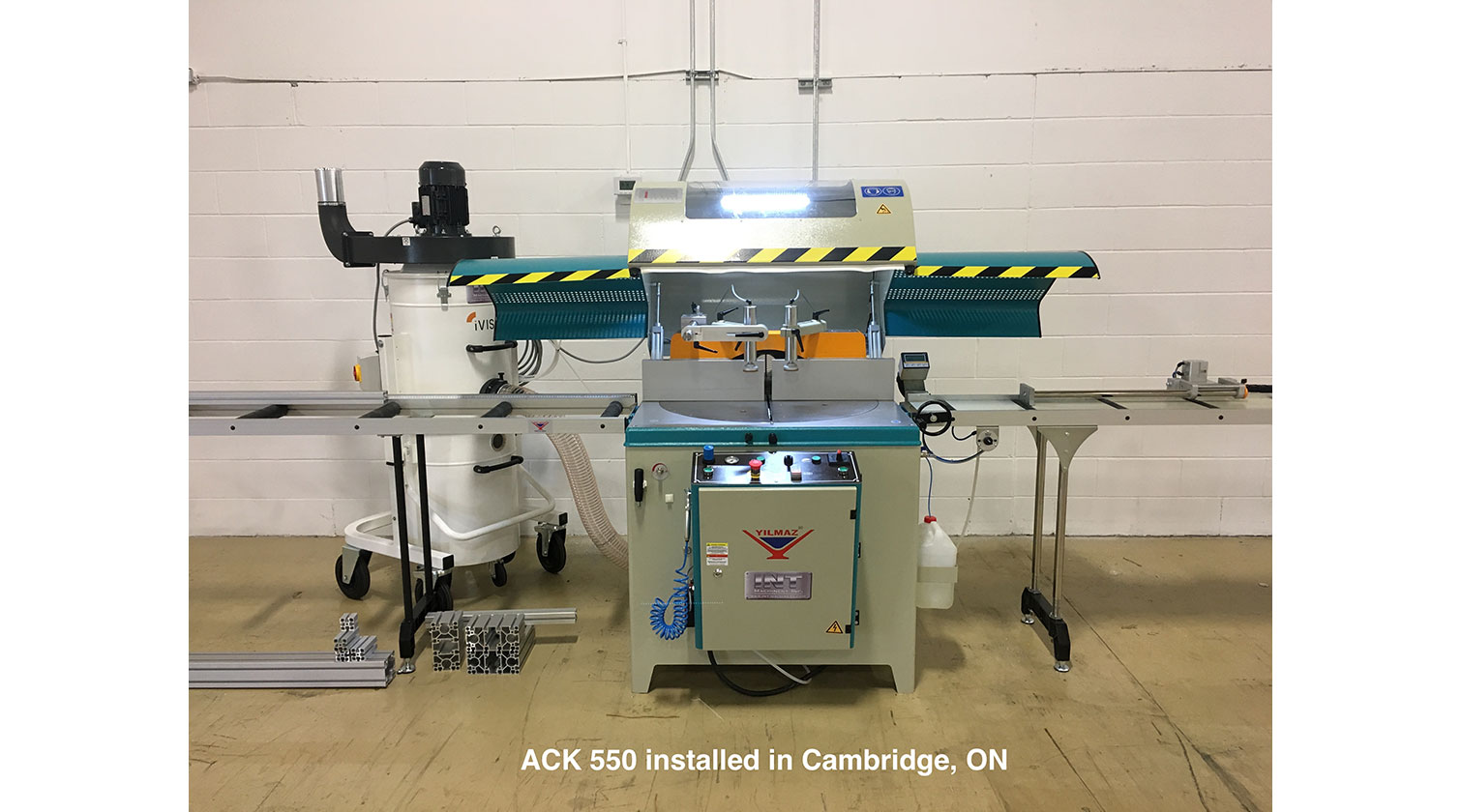 INT aluminum up cut saw Yilmaz ACK 550 Installed in Cambridge ON
