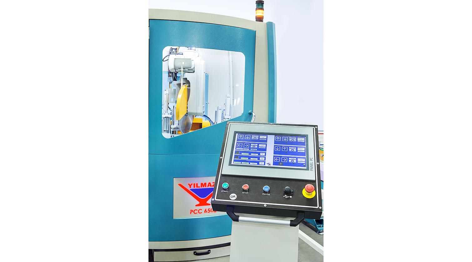 INT pvc cutting centre Yilmaz PCC 6505 Operator interface