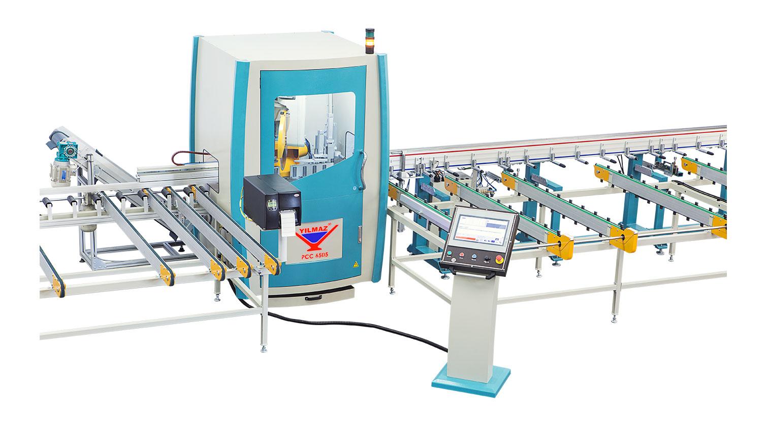 INT pvc cutting centre Yilmaz PCC 6505 cutting unit enclosure