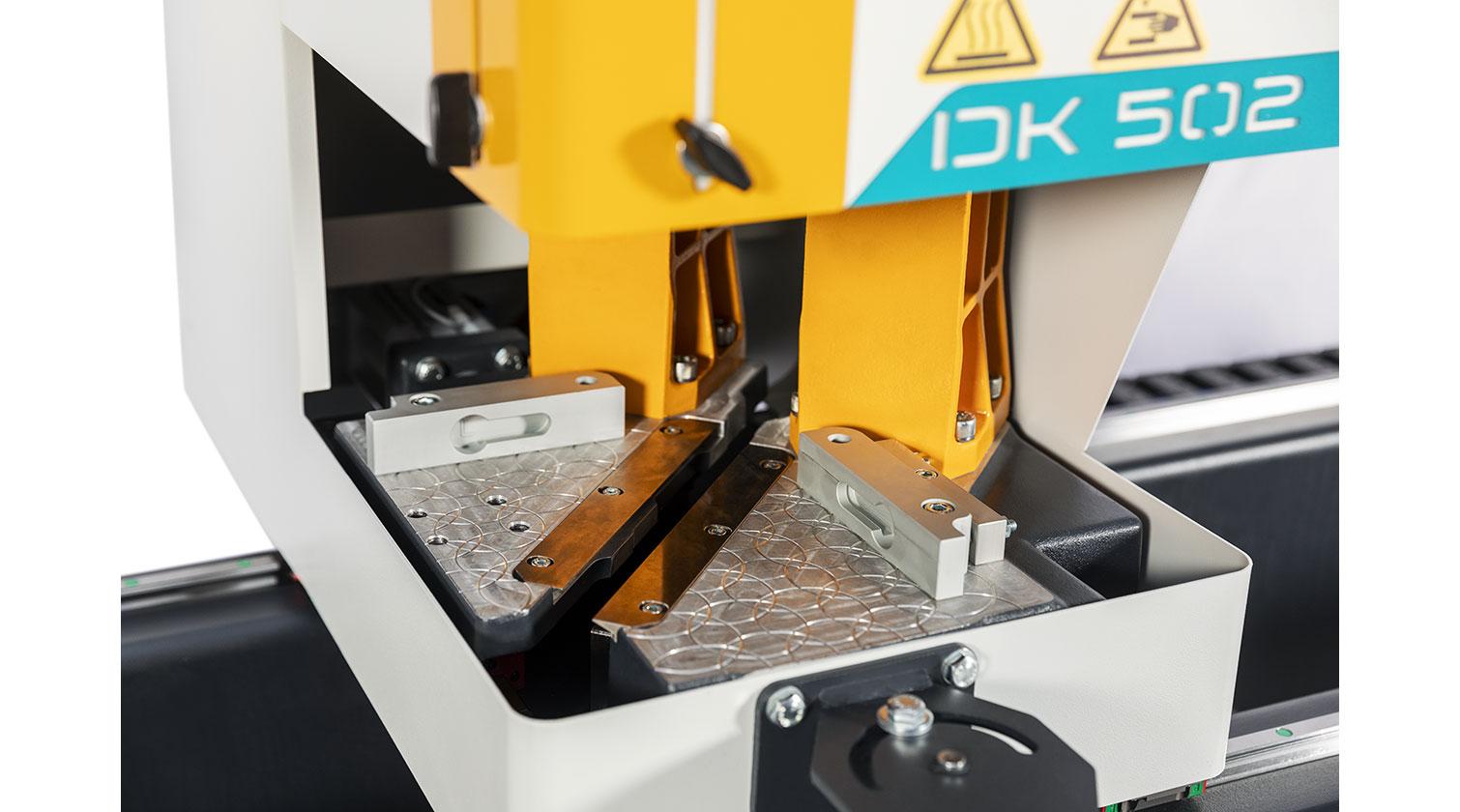 INT pvc windows two point welder Yilmaz DK 502 welding head detail