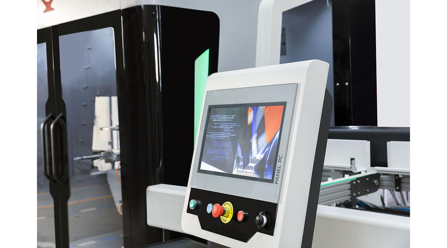 INT PVC window CNC Yilmaz PIM 6509 operator interface