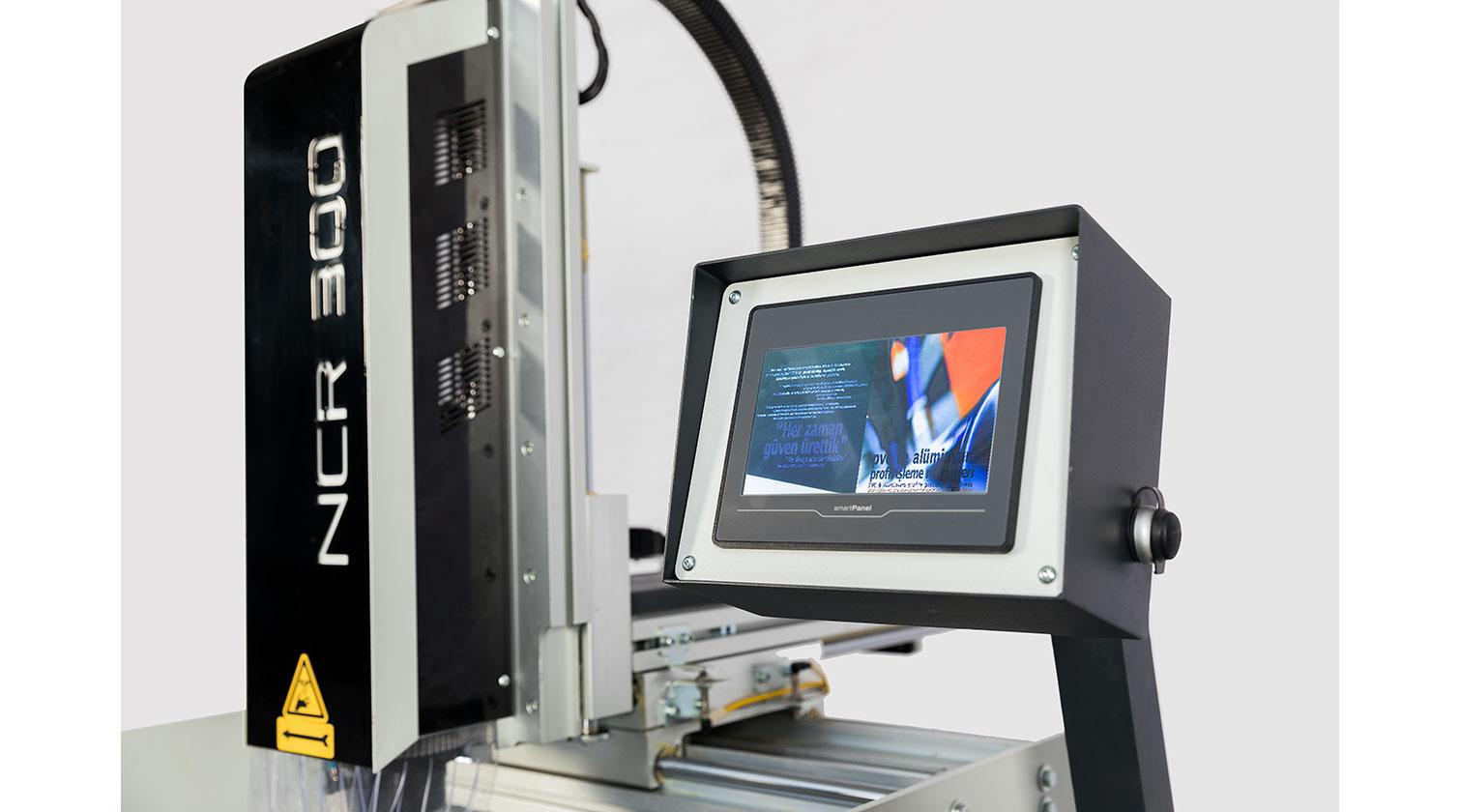 INT aluminum CN copy router Yilmaz NCR 300 operator interface