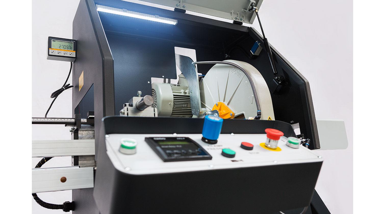 INT aluminum automatic saw Yilmaz SK 400 operator console a