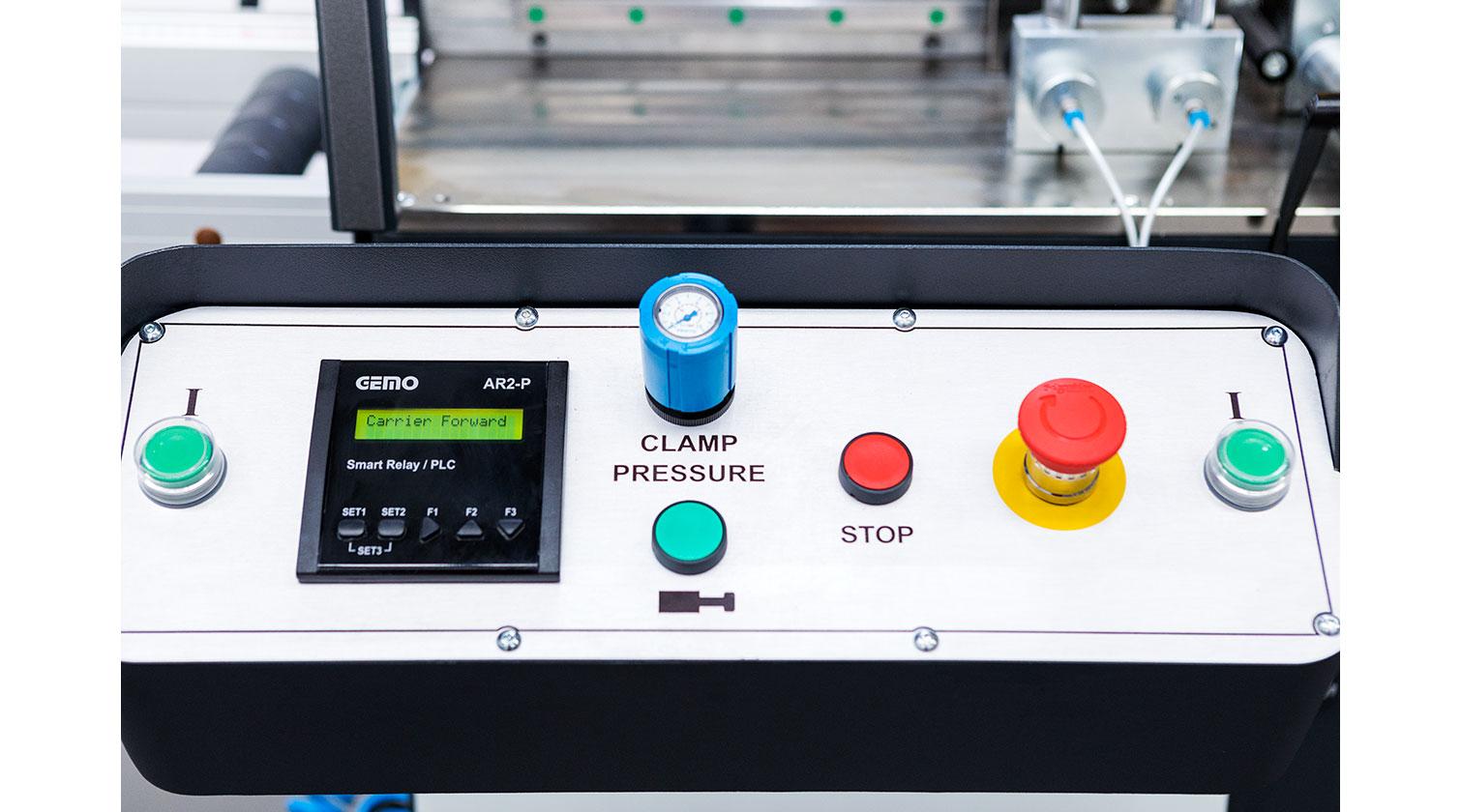 INT aluminum automatic saw Yilmaz SK 400 operator console