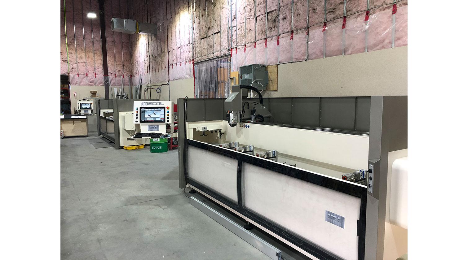 INT aluminum CNC Mecal Aydo installed in Edmonton AB 1