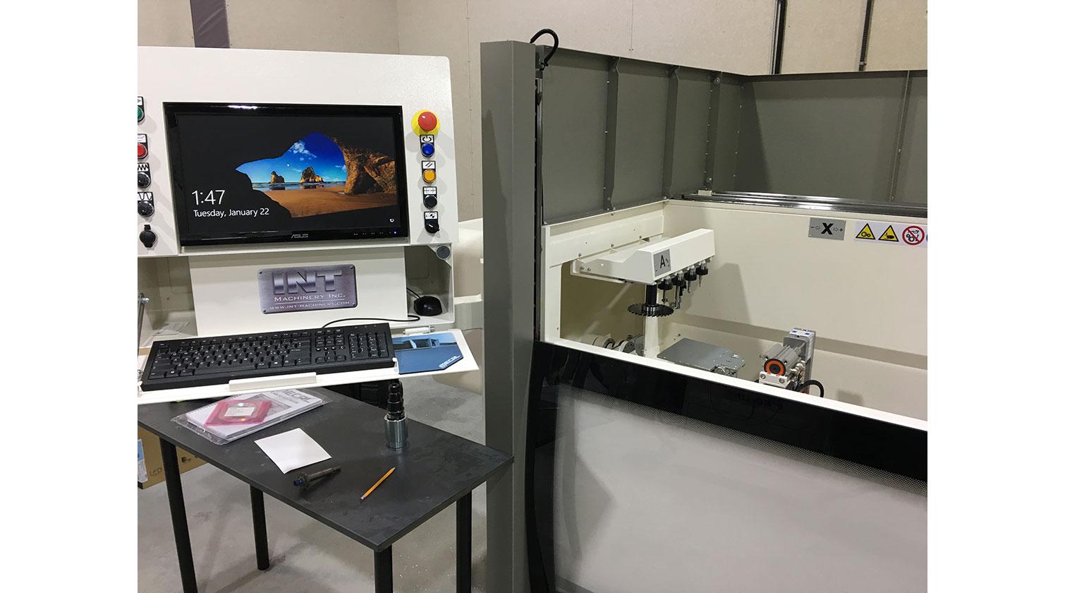 INT aluminum CNC Mecal Aydo operator interface 1