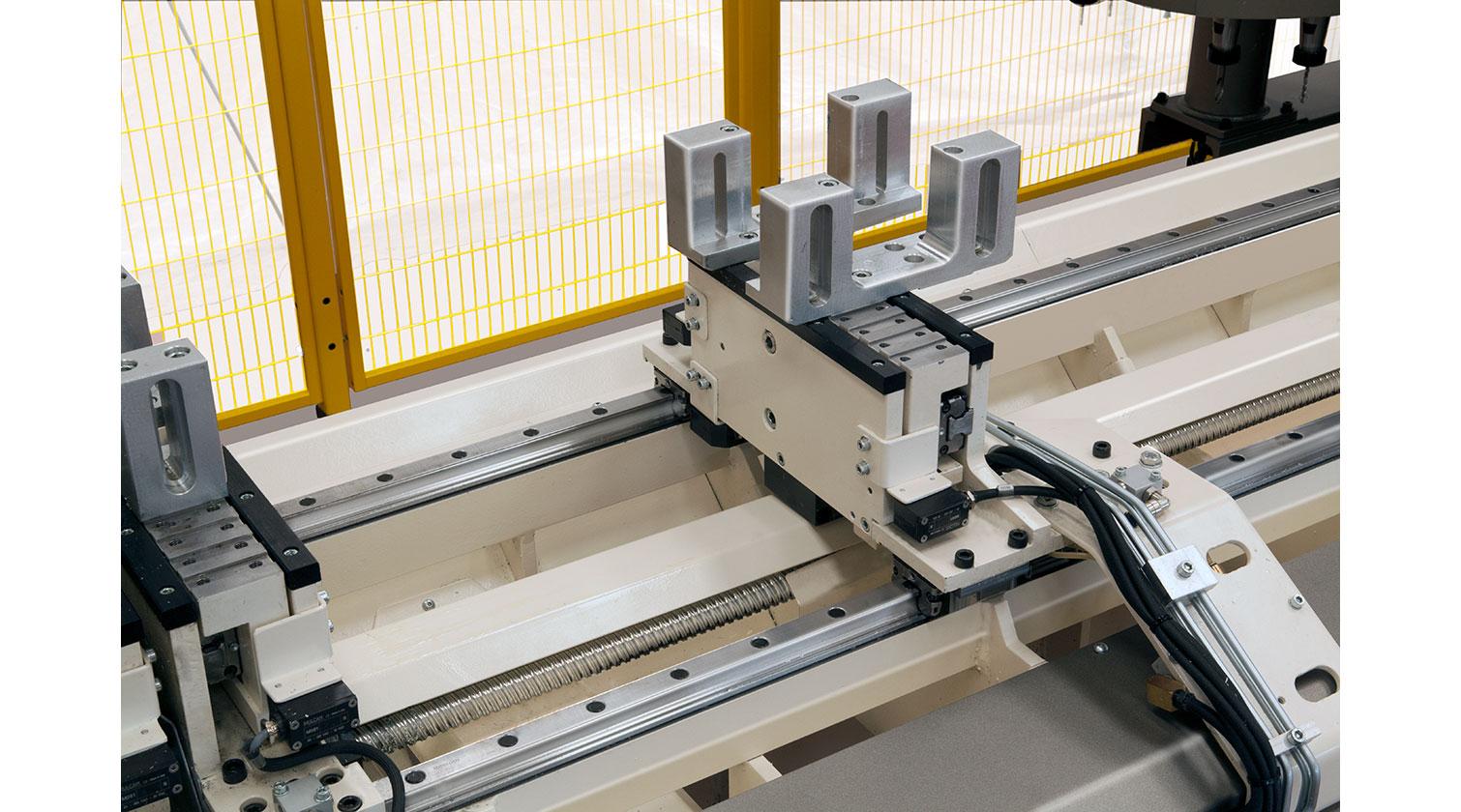INT aluminum CNC Mecal FM 311 fabrication centre clamps detail 1