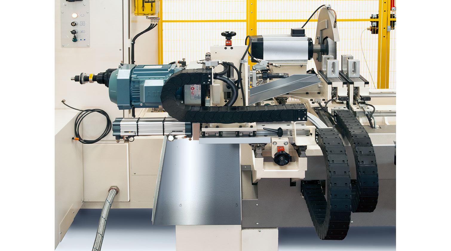 INT aluminum CNC Mecal FM 311 fabrication centre cutting unit 1